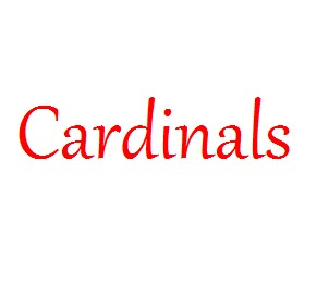 Seeing cardinals throughout my life.