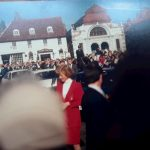 Diana, Princess of Wales, arriving for walkabout in Beverley England, September 1988.