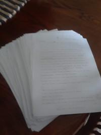The Stonemason's Secret First Revision with printed manuscript.