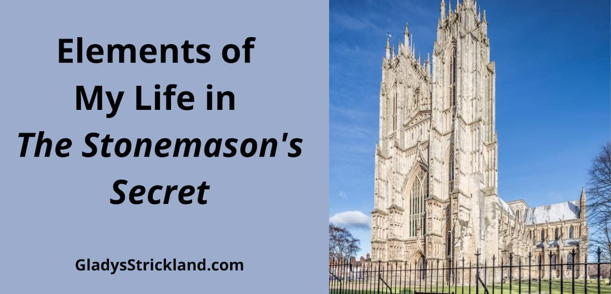 Elements of My Life in The Stonemason's Secret with photo of west end of Beverley Minster